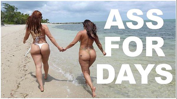 BANGBROS – Latina Lesbians Spicy J & Miss Raquel's Asstastic Day At The Beach