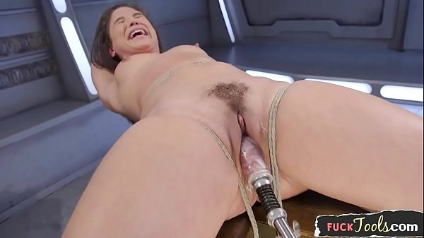 Bound glam beauty drilled by sex machine