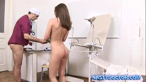 Petite Brunette Cumhozed By Old Doc