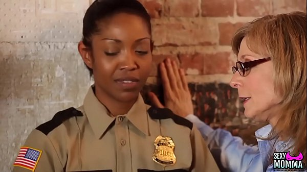 SEXYMOMMA – Ebony prison guard strapon fucked in the ass