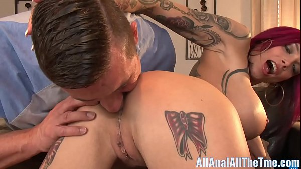Tattoo Babe Anna Bell Peaks Spreads Ass To Get Licked!