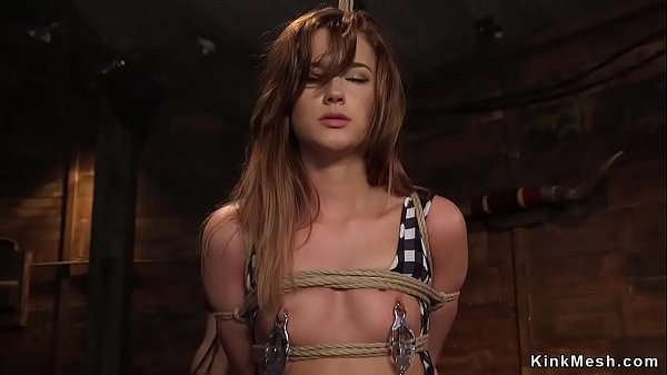 Teen beauty banged in threesome bdsm