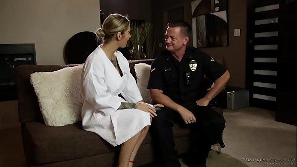 A cop shows up at the nuru massage spa! – Kleio Valentien, Eric Masterson