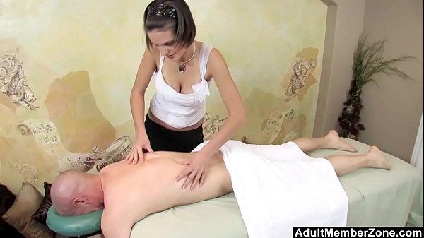 AMZ – Busty Teen's Massage Gets His Cock Rock Hard