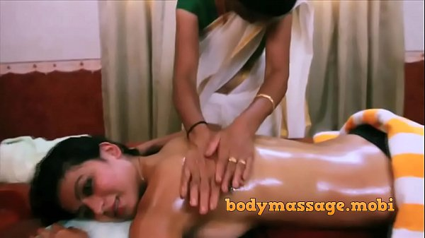 Ayurvedic massage to indian babe