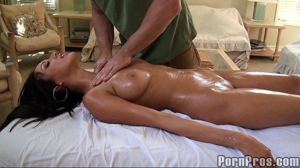 Busty Brunette Oily Massage