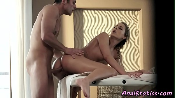 Classy beauty buttfucked after massage