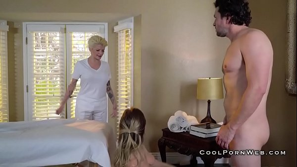 Dirty masseur fucking olied babe during massage