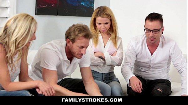 FamilyStrokes – Family Game Night Orgy