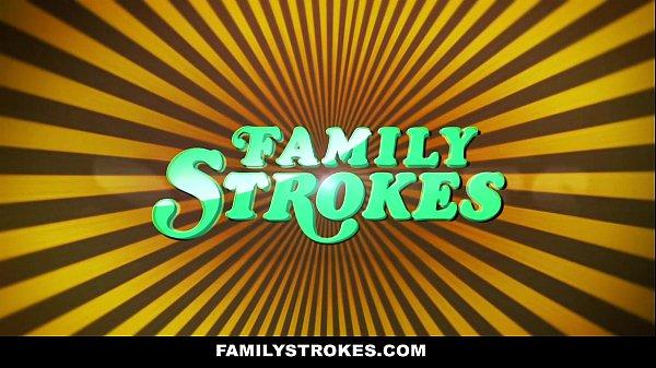 FamilyStrokes – Hot Milf Sucks Off Step-Son