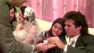 Fantastic orgy for just married Jessica Rizzo