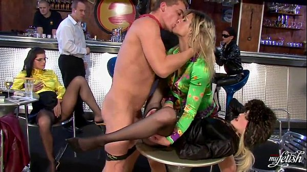 Fully clothed orgy in bar – Hell Porno