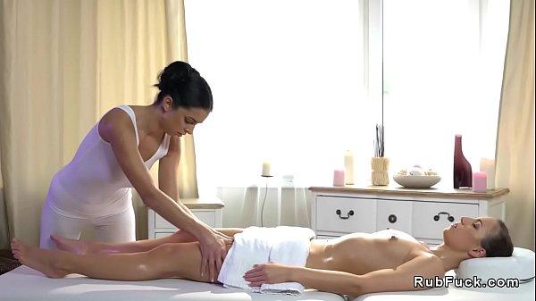 Hot lesbian oil erotic massage