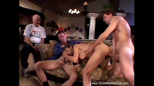 Insane Threesome Anal DP Orgy