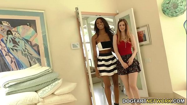 Interracial Lesbian Action with Stella Cox and Nadia Jay