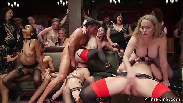 Interracial orgy bdsm anal fuck party
