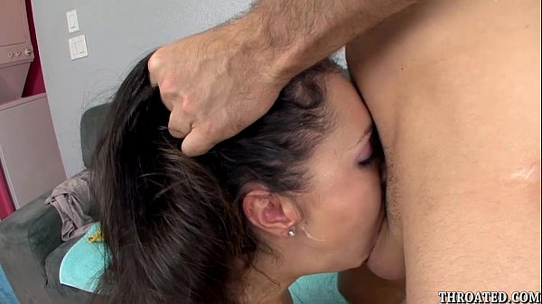 Lina Cole eagerly swallowing James Deen's cock deep