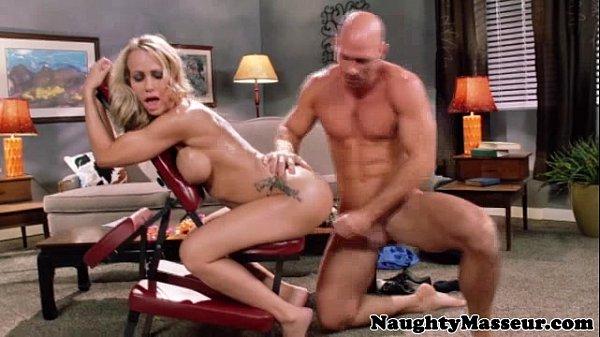 Massage loving blonde getting fingered