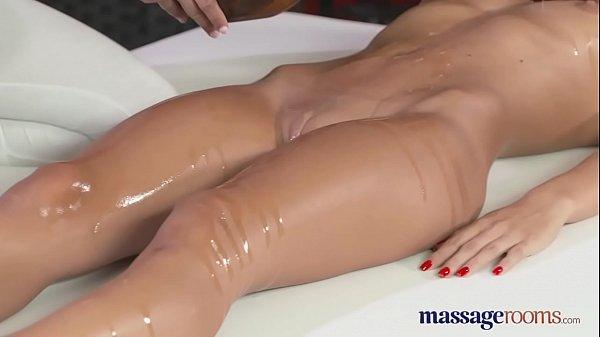 Massage Rooms Two beautiful lesbians enjoy sensual and intense orgasms