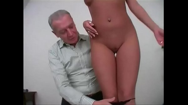 Old man gropes and fuck a young and sexy girl