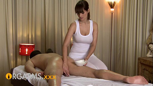 ORGASMS HD Sexy massage from cute busty brunette woman