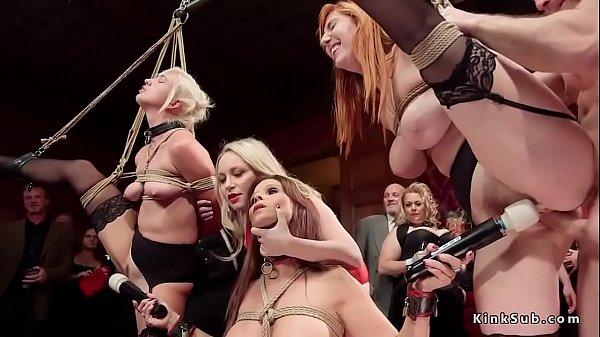 Orgy fucking and vibrating at party