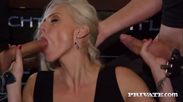 Private.com Horny Milf Rides a Threesome with DP