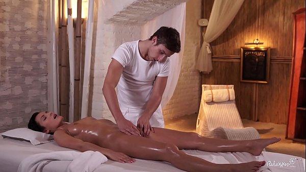 RELAXXXED – Czech brunette Lexi Dona enjoys oiled up massage turned hot fuck