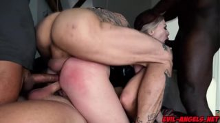 Russian spy Isabella Clark TRIPLE ANAL FUCKED in this extreme gangbang where Clark gets brutally fucked by four military men!