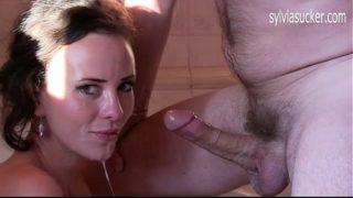 Sylvia Chrystall's Slurping Deepthroat Cock Worship and Cum Play and Cum Swallow
