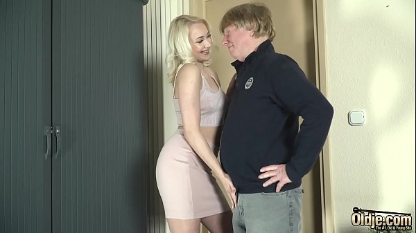 Teen sex with old man she gets pussy fucked and facial cum