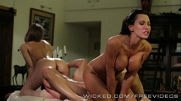 Wicked – Sexy threesome with some massage school dropouts