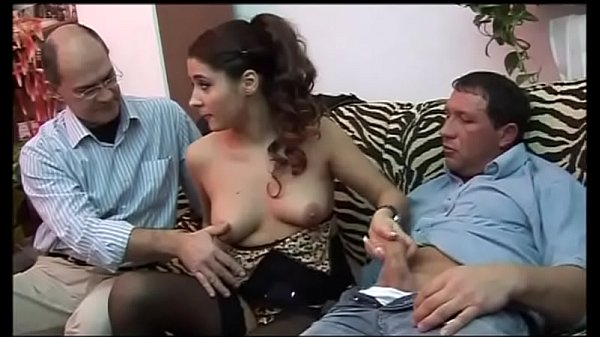 Young girl groped and fucked by two old pigs