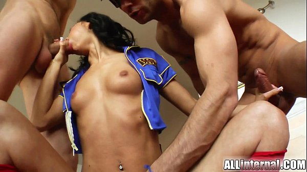 All Internal Tight ass packed with cum after double team