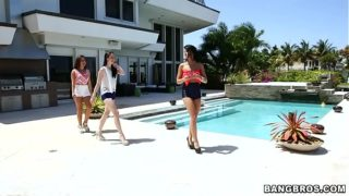 BANGBROS – Adriana Chechik, Janelle James, and Veronica Radke Lesbian Threesome