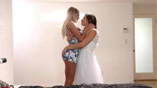 Big Booty Lesbian Friends August Ames and Abella Danger