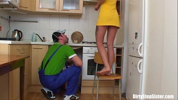 Blonde Russian Teen Gets Her Pussy Plumbered