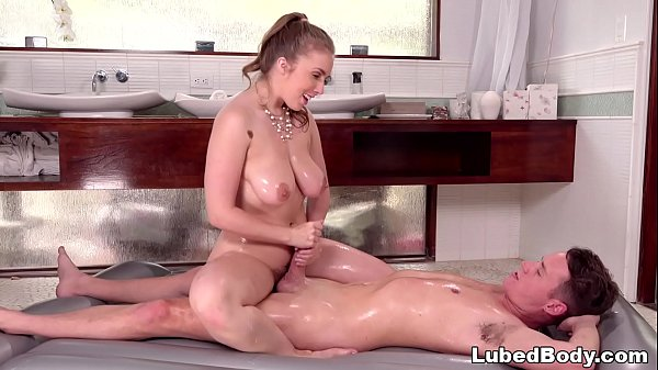 Extremely shy boy got a full experience massage – Lena Paul and Justin Hunt