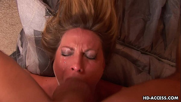 Gobbling the dick with a hard deep throat style