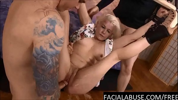 Nasty cunt does ass to mouth & throat fucked to puke
