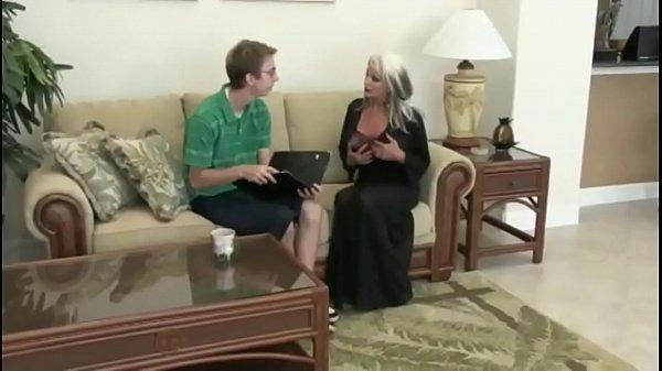 Nerd Fucks Mature Blonde MILF Sally D'angelo
