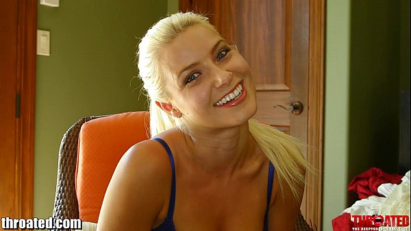 Throated Anikka Albrite gets facefucked & throatfucked