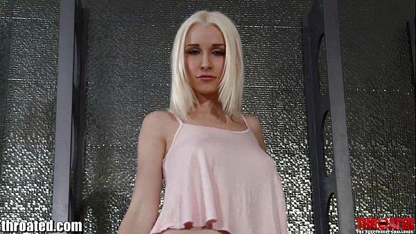 Throated Tatooed pornstar Stevie Shae gets a HARD FACEFUCK!