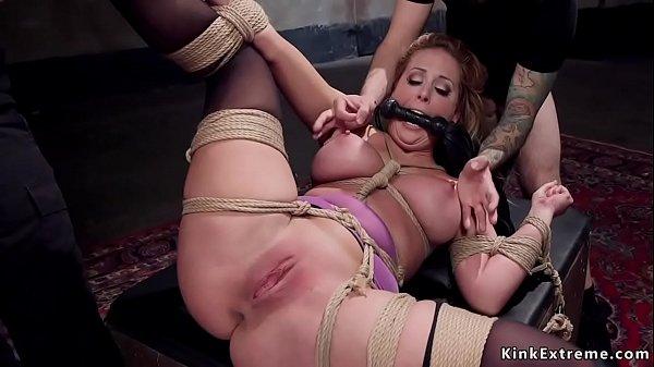 Busty bondage pornstar rough banged