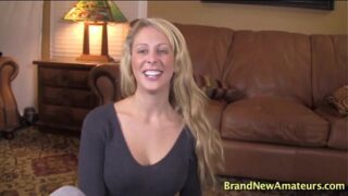 Cherie Deville casting gives her first blowjob pov and swallows