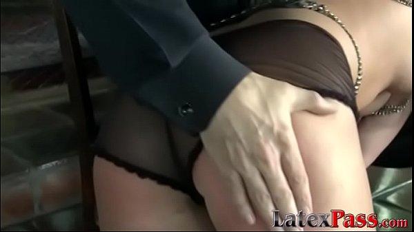 Glamorous hottie enjoys rough bondage and erotic domination