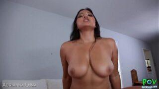 Hot Adrianna Luna fuck cock in POV