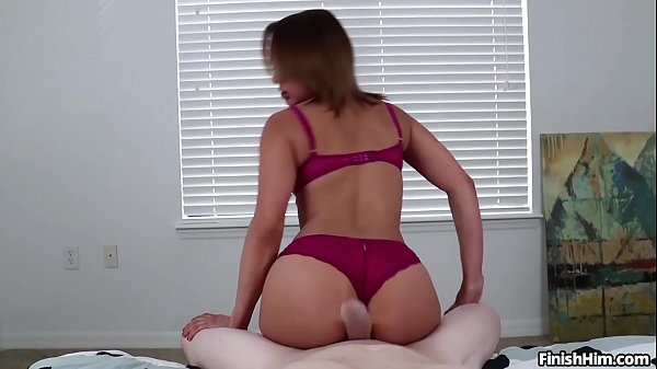 Hot brunette sensual handjob