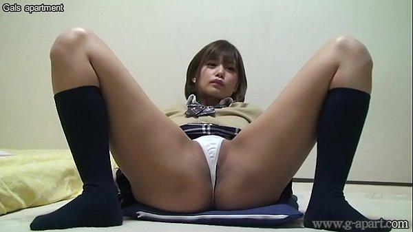 Japanese Schoolgirl Hikaru Open-wide Leg Panties
