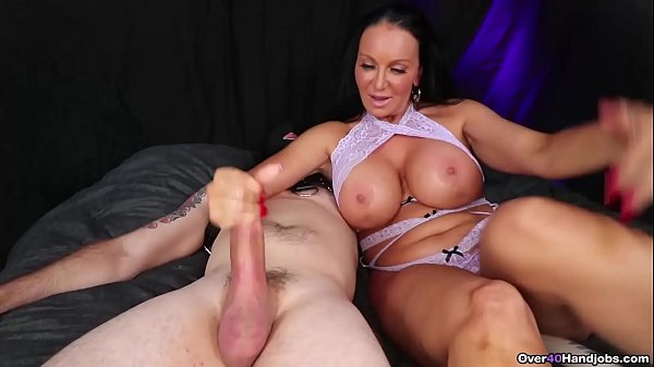 MILF Handjob while Playing with Her Pussy – Over 40 Handjobs